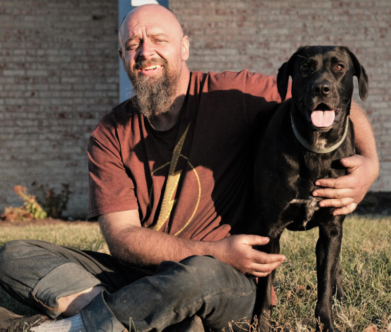 Ben is a homeless veteran but he has Luna, who keeps him company and makes him feel needed.