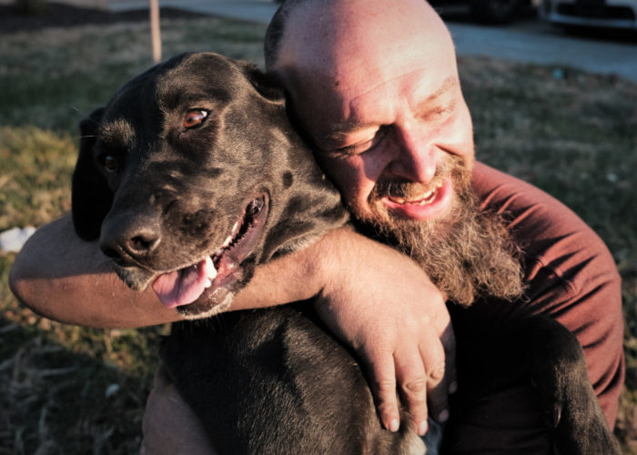 Dogs and people form strong bonds that help them get through tough times.