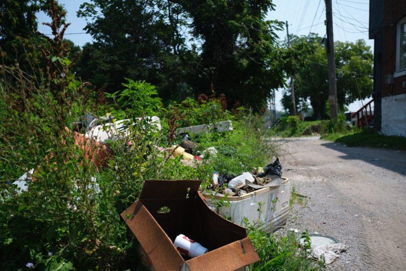 Trash and debris pile up in northeast Kansas City.