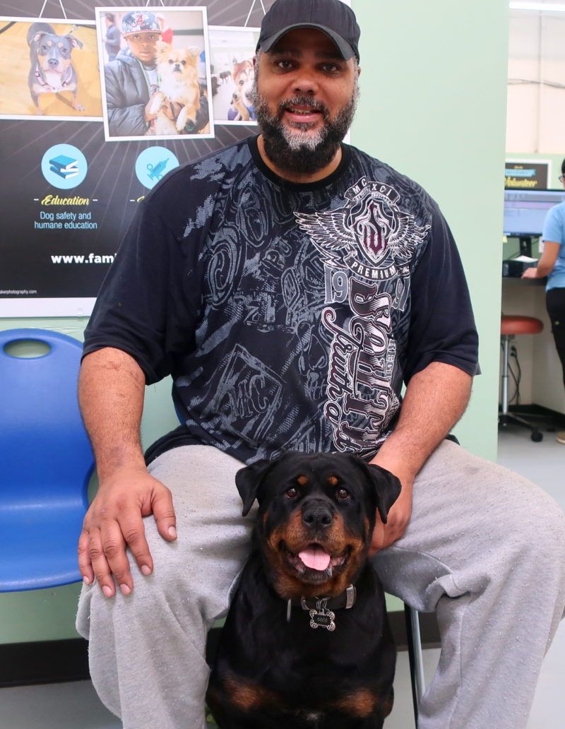 Joel and Soco came to us when she started having medical problems.