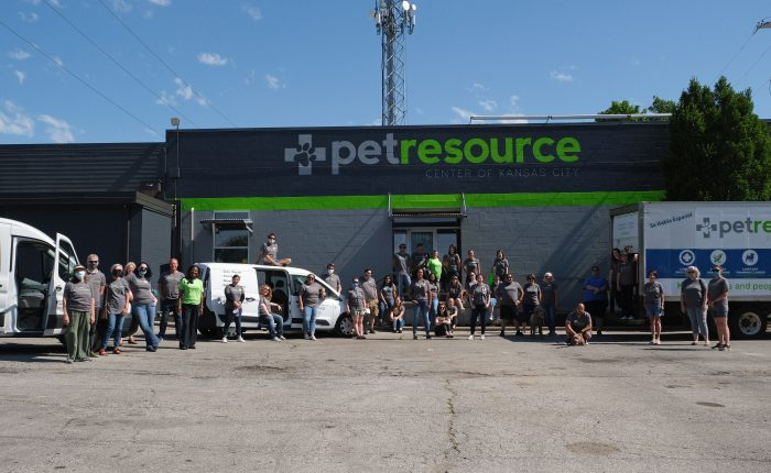 The PRCKC team stands in front of the newly painted building
