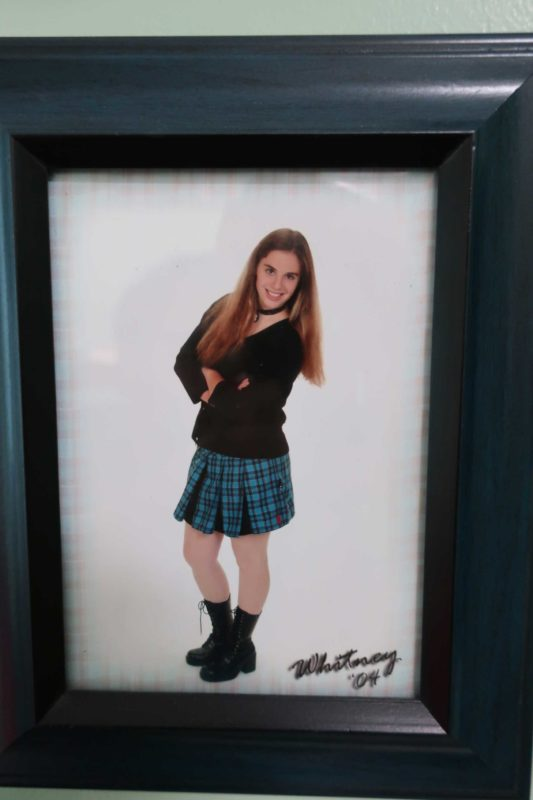 a picture of a woman's senior photo